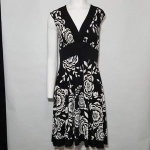 XOXO Collection Black and White Floral Dress